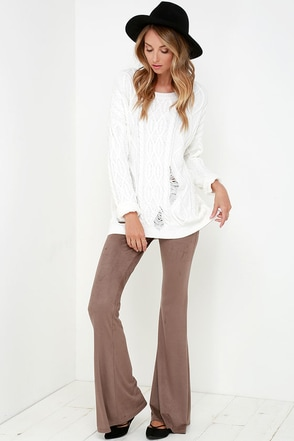 I'd Suede So Washed Black Flare Pants at Lulus.com!