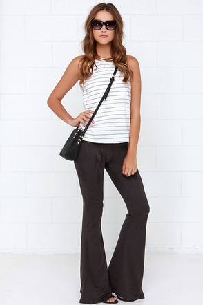 I'd Suede So Taupe Flare Pants at Lulus.com!
