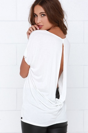 Obey Adelaide Ivory Tee at Lulus.com!