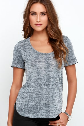 Obey Teresa Heather Grey Burnout Tee at Lulus.com!