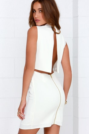 Go All Out Ivory Sleeveless Dress at Lulus.com!