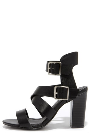 Caged to Perfection Black High Heel Sandals at Lulus.com!