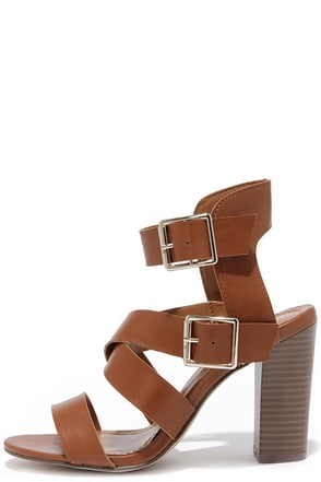 Caged to Perfection Tan High Heel Sandals at Lulus.com!