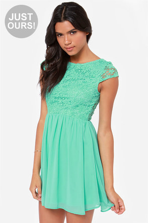 LULUS Exclusive Fleur Get Me Not Mint Green Crochet Dress at Lulus.com!