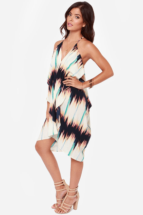 How Flow Can You Go Ivory Print Dress