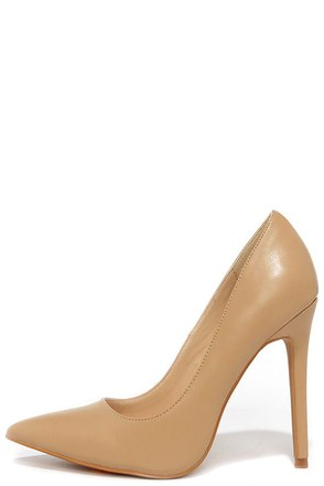 LULUS Gigi Camel Pointed Pumps at Lulus.com!