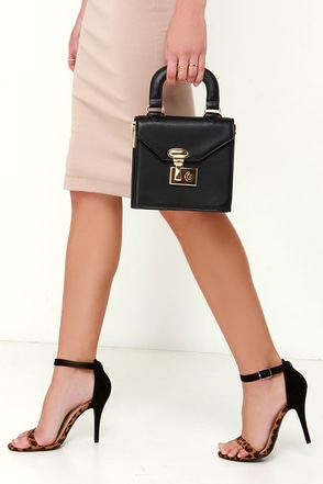 All of My Heart Black Mini Handbag at Lulus.com!