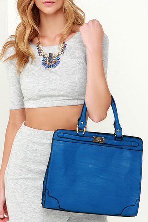 High Class Hero Blue Handbag at Lulus.com!