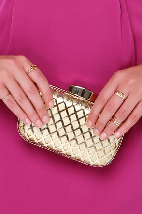 Dependably Divine Gold Clutch at Lulus.com!
