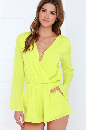 Here and Now Blue Romper at Lulus.com!