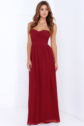 Royal Engagement Strapless Coral Pink Maxi Dress at Lulus.com!