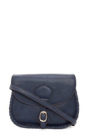 Side Saddle Navy Blue Purse