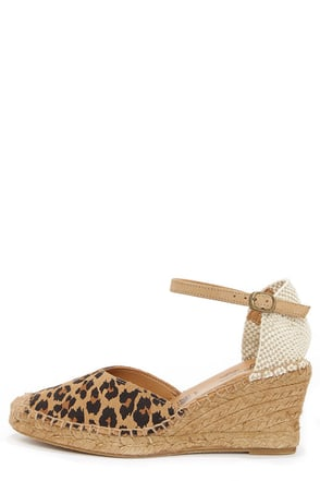 Seychelle's Truth Be Told Leopard Print Espadrille Wedges