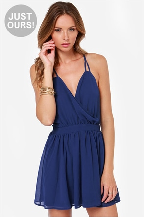 LULUS Exclusive Bright Kind of Love Blue Dress