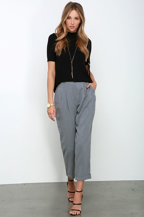 Work and Play Grey Trouser Pants at Lulus.com!