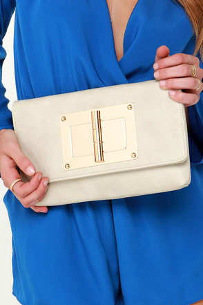 Launch Pad Ivory Clutch at Lulus.com!