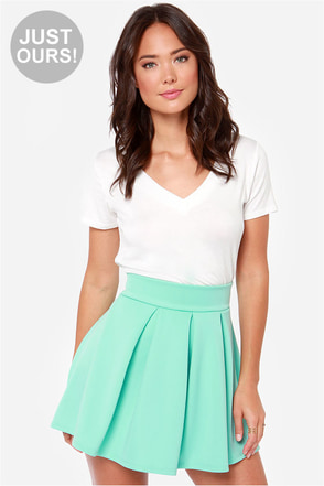 LULUS Exclusive Times Flare Mint Skirt