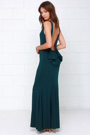 Flare Say Dark Teal Maxi Dress at Lulus.com!