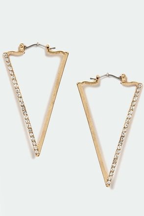 Prove a Point Gold Earrings