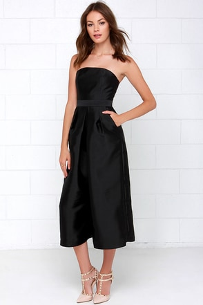 Cameo Living Proof Black Midi Jumpsuit at Lulus.com!