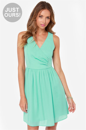 LULUS Exclusive Tuck and Cover Mint Dress