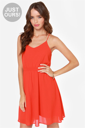 LULUS Exclusive Knot For Love Red Dress