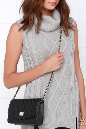 Le Jazz Hot Black Quilted Purse at Lulus.com!