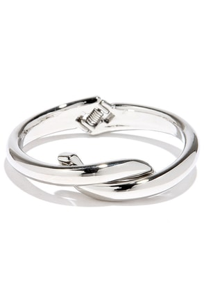 Interlock Down Silver Bracelet at Lulus.com!