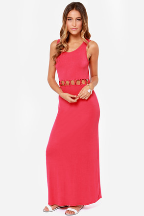 Olive & Oak Long Gone Berry Pink Maxi Dress at Lulus.com!