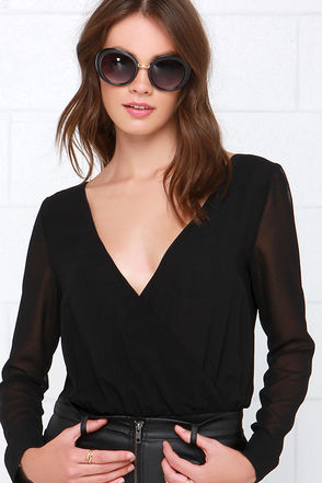 Rise of Dawn Get Me Out Black Bodysuit at Lulus.com!