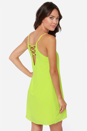 Play the Angles Chartreuse Dress