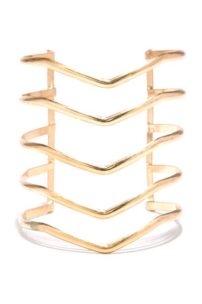 V Formation Gold Bracelet at Lulus.com!