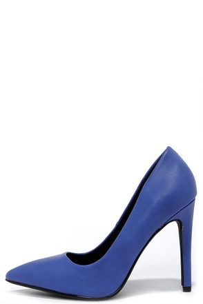 Glide and Stride Ocean Blue Pointed Pumps at Lulus.com!