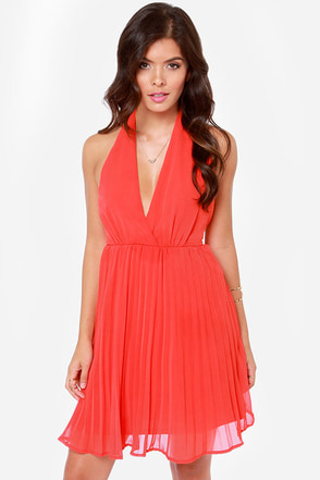 LULUS Exclusive My Marilyn Red Halter Dress
