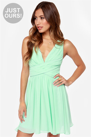 LULUS Exclusive Paths Cross Mint Dress