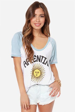 Chaser Argentina Print Burnout Tee