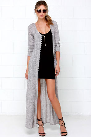 Amazing Graze Long Grey Sweater at Lulus.com!