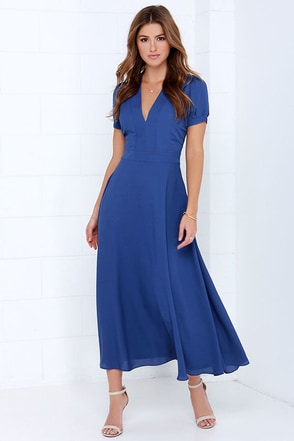 Take a Twirl Royal Blue Midi Dress at Lulus.com!