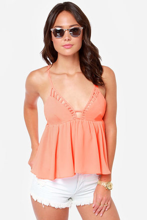 Instant Gratification Neon Coral Tank Top