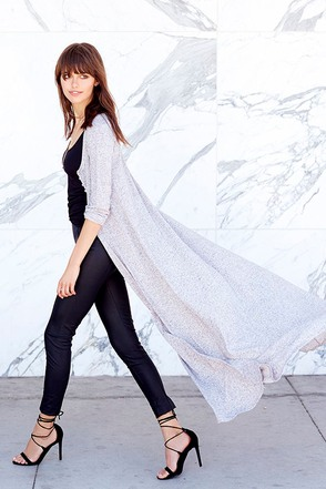 Amazing Graze Long Heather Black Sweater at Lulus.com!