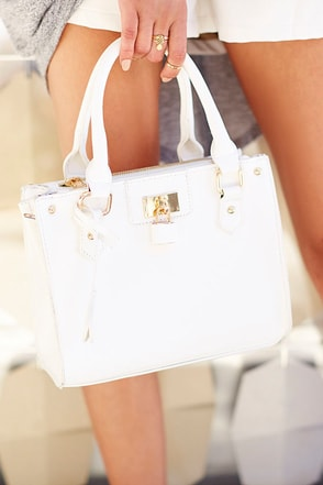 Love Lock Ivory Handbag at Lulus.com!