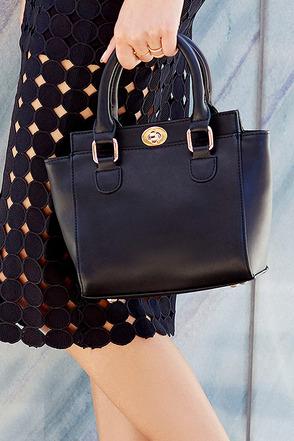 Baby Vamp Black Mini Handbag at Lulus.com!