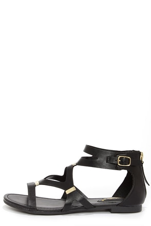 Ruby 31 White and Gold Gladiator Sandals