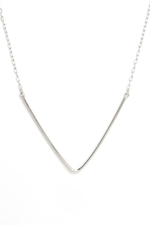 What You V is What You Get Silver Necklace