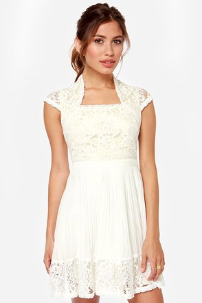Showered With Kisses Ivory Lace Dress