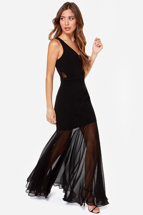 Glamorous Life Black Maxi Dress