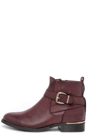 Desert Rose Burgundy Ankle Boots at Lulus.com!