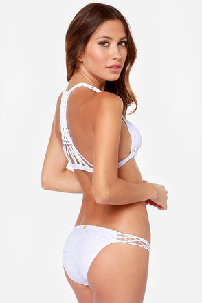 Addicted to You White Lace Bikini