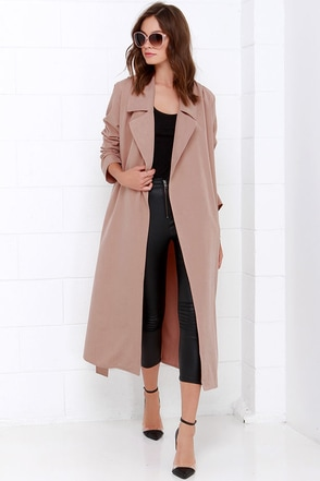 Night Drive Blush Trench Coat at Lulus.com!
