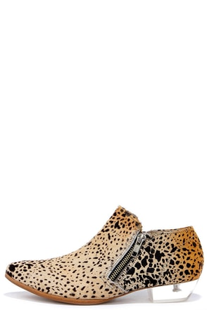 Matisse Epic Leopard Pony Fur and Lucite Booties at Lulus.com!